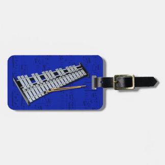 荷物のラベル-鉄琴(鐘) -色を選んで下さい ラゲッジタグ