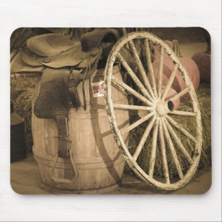 荷馬車の車輪およびサドル マウスパッド