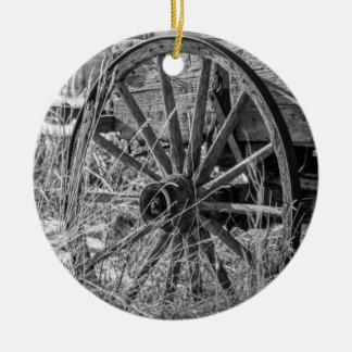 荷馬車の車輪のオーナメント セラミックオーナメント