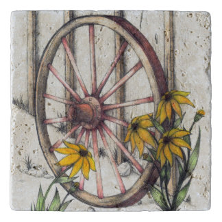 荷馬車の車輪の石Trivet トリベット