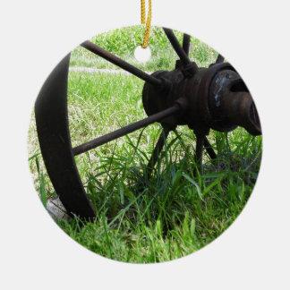 荷馬車の車輪 セラミックオーナメント