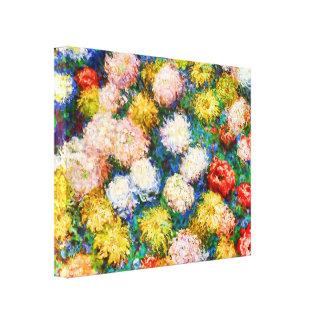 菊のクロード・モネのファインアート キャンバスプリント