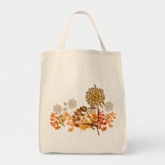 菊のグラフィック トートバッグ