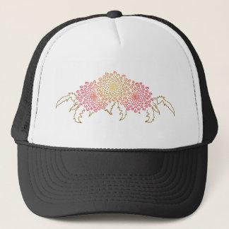 菊のモチーフ キャップ
