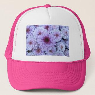 菊の紫色の白 キャップ