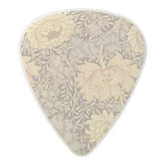 「菊」の壁紙のデザイン1876年 アセタール ギターピック