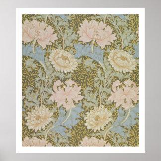 「菊」の壁紙1876年(壁紙) ポスター