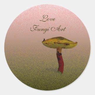 菌の芸術 ラウンドシール
