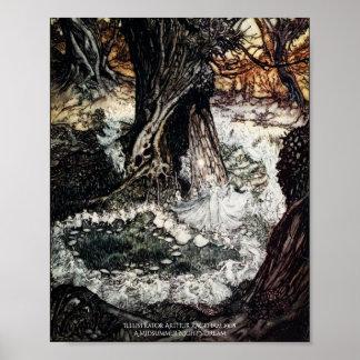 菌輪の真夏の夜の夢のアーサーRackham ポスター