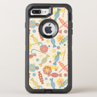 菓子およびキャンデーパターン オッターボックスディフェンダーiPhone 8 PLUS/7 PLUSケース