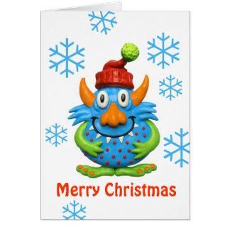 菓子によって斑点を付けられるモンスターのクリスマス カード