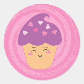 菓子の御馳走-カップケーキ! ラウンドシール