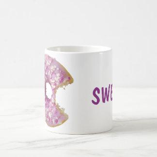 菓子の艶をかけられたドーナツ コーヒーマグカップ