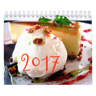 菓子は2017年をカレンダーに記録します カレンダー