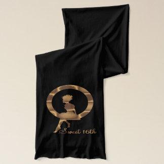 菓子第16の金ゴールド及びジャージーの黒いスカーフ スカーフ