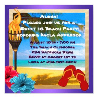 菓子16のルアウ(ハワイ式宴会)のビーチのパーティー カード