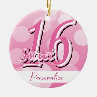 菓子16のワードの芸術|の第16誕生日 セラミックオーナメント