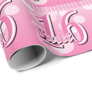 菓子16のワードの芸術|の第16誕生日 ラッピングペーパー