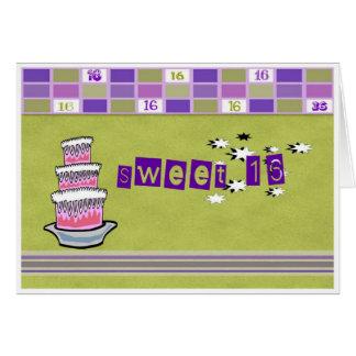 菓子16の招待状 カード