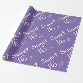 菓子16の紫色 ラッピングペーパー
