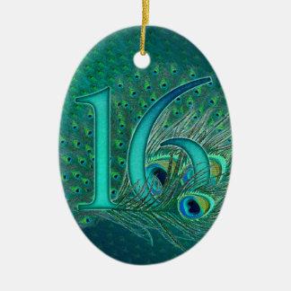 菓子16の誕生日によって飾られる年齢数 セラミックオーナメント