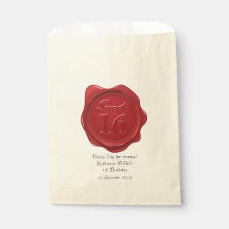 菓子16の誕生日は赤いワックスのシール感謝していしています フェイバーバッグ