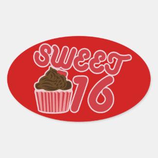 菓子16 楕円形シール