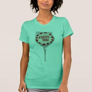 """菓子""""私は"""" Lollyのワイシャツ愛します Tシャツ"""