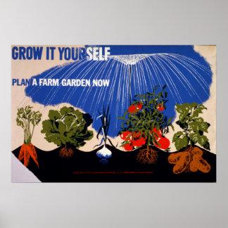 菜園のヴィンテージポスター ポスター
