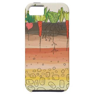 菜園の土の地球は自然の芸術を層にします iPhone SE/5/5s ケース