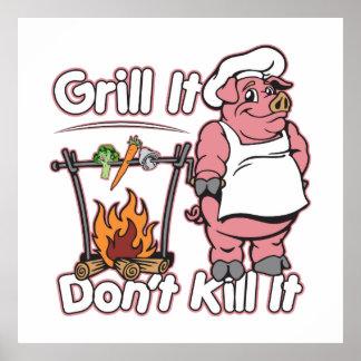 菜食主義のグリルそれはそれを殺しません ポスター