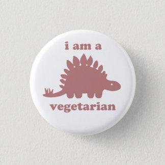 菜食主義のステゴサウルスの恐竜-ピンク 3.2CM 丸型バッジ