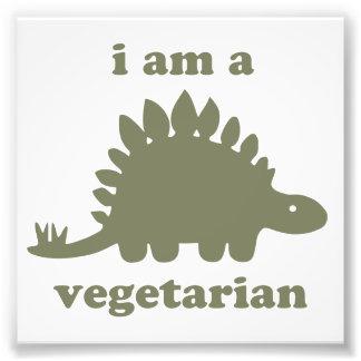 菜食主義のステゴサウルスの恐竜-緑 フォトプリント