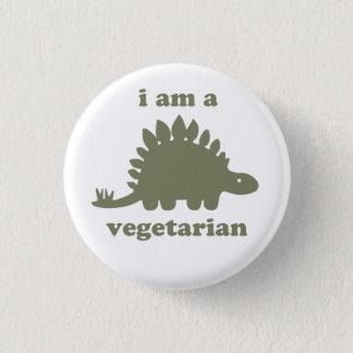 菜食主義のステゴサウルスの恐竜-緑 3.2CM 丸型バッジ