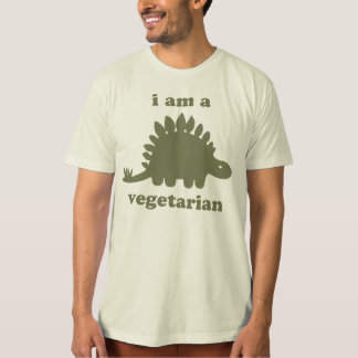 菜食主義のステゴサウルスの恐竜-緑 Tシャツ