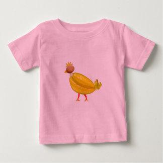 菜食主義の多彩でかわいい鶏 ベビーTシャツ