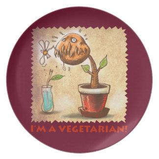 菜食主義の植物 お皿