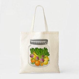 菜食主義の込み合いの予算の戦闘状況表示板 トートバッグ