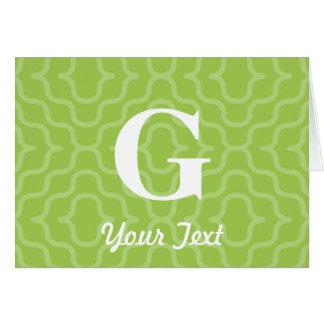 華美でコンテンポラリーなモノグラム-手紙G カード