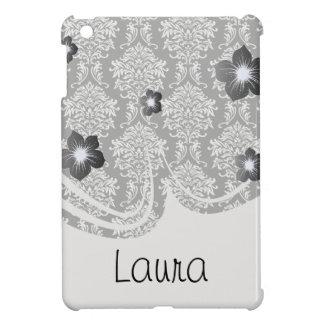 華美で白くおよび黒いダマスク織の古典 iPad MINI カバー