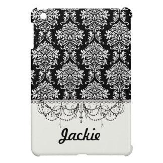華美で白くおよび黒いダマスク織の古典 iPad MINI CASE