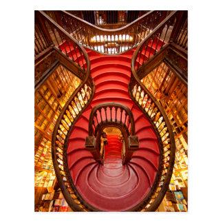 華美で赤い階段、ポルトガル ポストカード