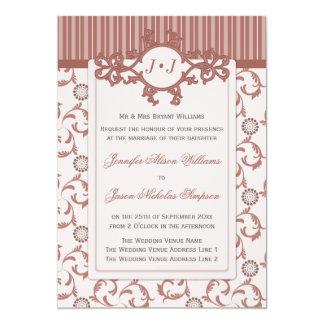 華美なパターンが付いているスパイスの結婚式招待状 カード
