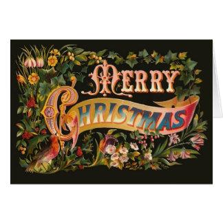 華美なヴィンテージのクリスマスの挨拶状 カード