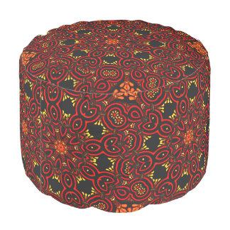 華美な中東の円形浮彫り5 プーフ