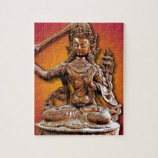 華美な仏教の神Manjushri ジグソーパズル