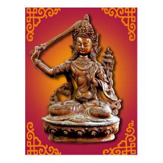 華美な仏教の神Manjushri ポストカード