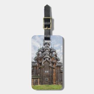 華美な木教会、ロシア バッグタグ