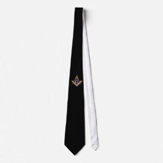 華美な正方形およびコンパス ネクタイ