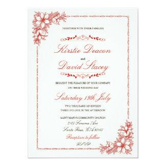 華美な装飾を持つ結婚式招待状 カード
